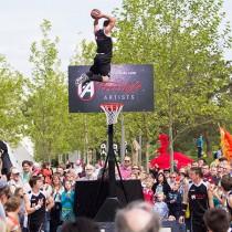 Freestyle-Artists_Basketballshow_Volkswagen Autostadt