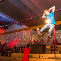 Slackline Athleten der Superlative für Veranstaltungen.