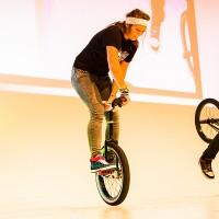 Einrad Freestyle Show der Superlative für Veranstaltungen.
