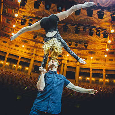 Duo Akrobatik Show der Superlative für Veranstaltungen.